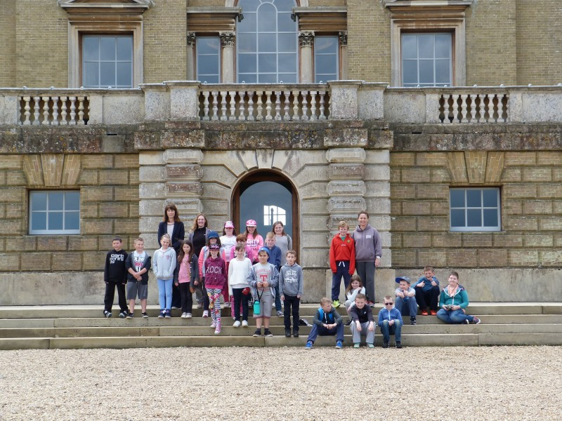 Karen's class outside Holkham Hall