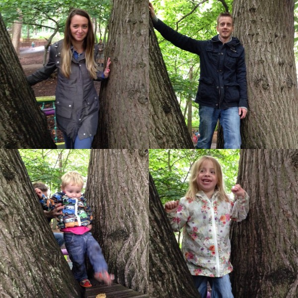 The Jobling family at BeWILDerwood