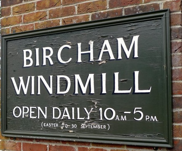 Bircham Windmill sign