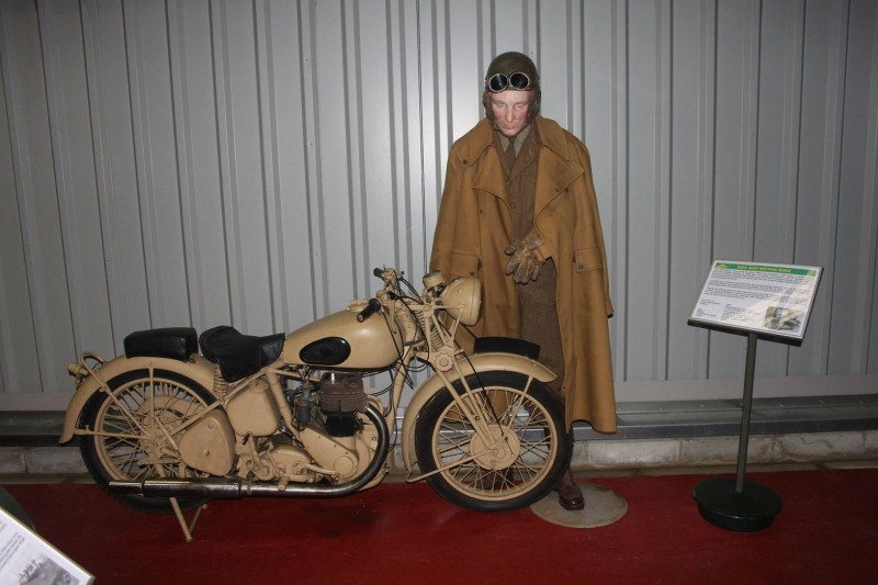 A motorbike exhibit