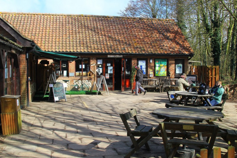 The shop and outside picnic benches
