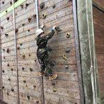 David on the climbing wall