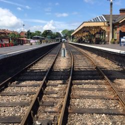 A view from the tracks at Sheringham station