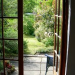 mid cottage view through summer house