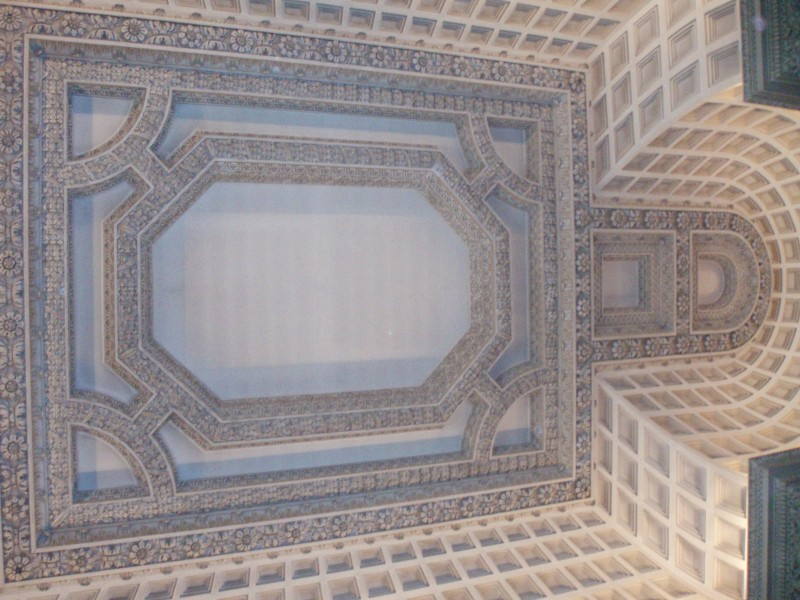 The marble hall ceiling