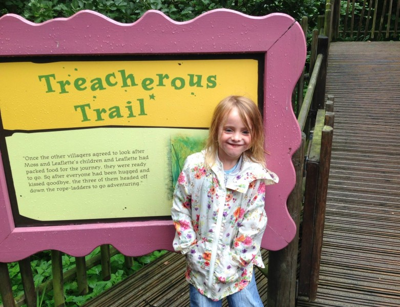Daughter Carly at the Treacherous Trail