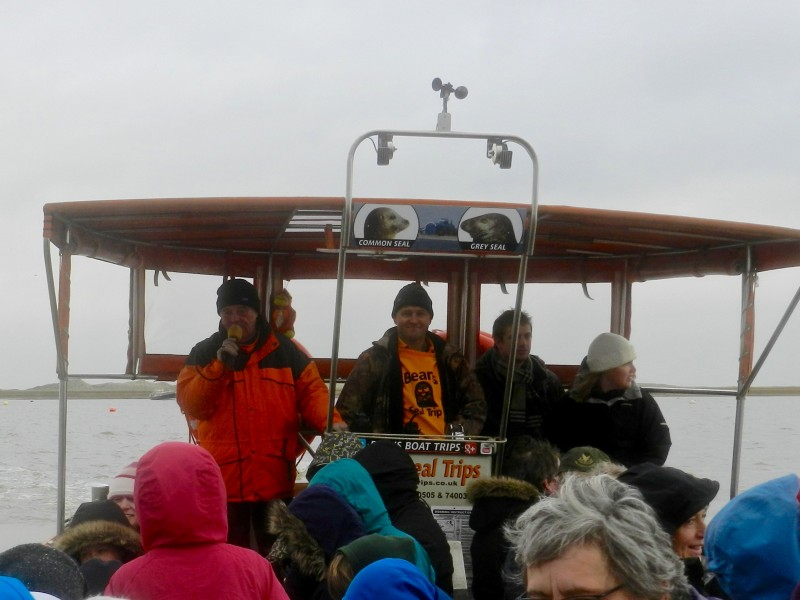 Pictured above: Tourists enjoy on of the boat trips
